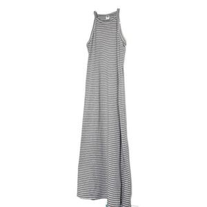 Old navy striped midi high neck dress